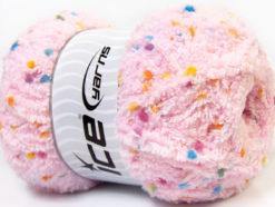 Lot of 4 x 100gr Skeins Ice Yarns PUFFY POMPOM (85% MicroFiber) Yarn Light Pink