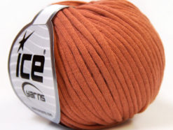 Lot of 8 Skeins Ice Yarns TUBE COTTON (70% Cotton) Yarn Light Copper