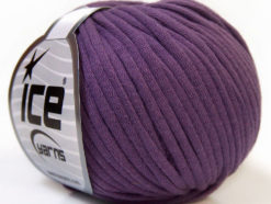 Lot of 8 Skeins Ice Yarns TUBE COTTON (70% Cotton) Hand Knitting Yarn Lavender