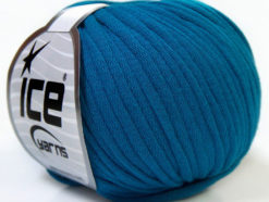 Lot of 8 Skeins Ice Yarns TUBE COTTON (70% Cotton) Hand Knitting Yarn Blue
