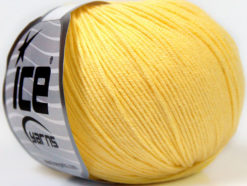 Lot of 8 Skeins Ice Yarns BABY SUMMER (60% Cotton) Yarn Light Yellow