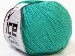 Lot of 8 Skeins Ice Yarns BABY SUMMER (60% Cotton) Yarn Emerald Green