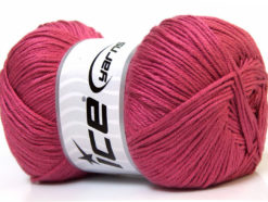 Lot of 4 x 100gr Skeins Ice Yarns BABY ANTIBACTERIAL (100% Antibacterial Dralon) Yarn Dark Pink