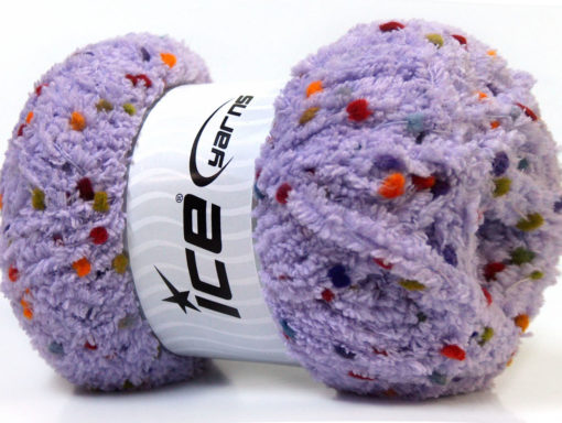 Lot of 4 x 100gr Skeins Ice Yarns PUFFY POMPOM (85% MicroFiber) Yarn Lilac
