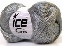 Lot of 4 x 100gr Skeins Ice Yarns TENA (50% Cotton) Hand Knitting Yarn Grey