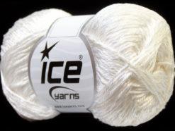 Lot of 4 x 100gr Skeins Ice Yarns TENA (50% Cotton) Hand Knitting Yarn White