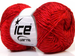 Lot of 4 x 100gr Skeins Ice Yarns TENA (50% Cotton) Hand Knitting Yarn Red