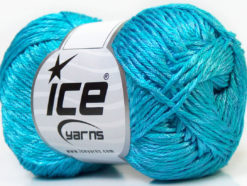 Lot of 4 x 100gr Skeins Ice Yarns TENA (50% Cotton) Yarn Turquoise