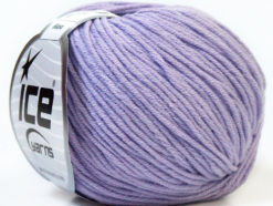 Lot of 8 Skeins Ice Yarns ALARA (50% Cotton) Hand Knitting Yarn Light Lilac