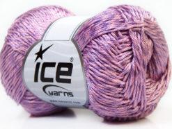 Lot of 4 x 100gr Skeins Ice Yarns TENA (50% Cotton) Yarn Light Lilac