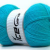 Lot of 4 x 100gr Skeins Ice Yarns SUPER BABY Hand Knitting Yarn Turquoise