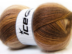 Lot of 4 x 100gr Skeins Ice Yarns ANGORA ACTIVE (25% Angora) Yarn Brown Shades