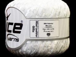 Lot of 6 Skeins Ice Yarns Trellis MINI LADDER GLITZ Hand Knitting Yarn White