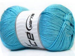 Lot of 4 x 100gr Skeins Ice Yarns BABY ANTIBACTERIAL (100% Antibacterial Dralon) Yarn Baby Blue
