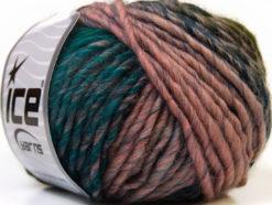 Lot of 8 Skeins Ice Yarns VIVID WOOL (60% Wool) Yarn Light Pink Black Green Blue Purple
