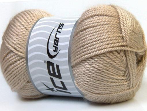 Lot of 4 x 100gr Skeins Ice Yarns DORA Hand Knitting Yarn Beige