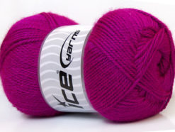 Lot of 4 x 100gr Skeins Ice Yarns DORA Hand Knitting Yarn Dark Fuchsia