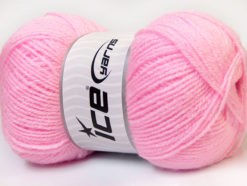 Lot of 4 x 100gr Skeins Ice Yarns SUPER BABY Hand Knitting Yarn Baby Pink