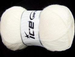 Lot of 4 x 100gr Skeins Ice Yarns MIRAGE (50% Wool) Hand Knitting Yarn White