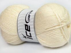 Lot of 4 x 100gr Skeins Ice Yarns MIRAGE (50% Wool) Hand Knitting Yarn Cream