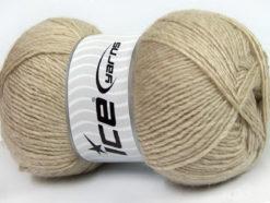 Lot of 4 x 100gr Skeins Ice Yarns MIRAGE (50% Wool) Hand Knitting Yarn Beige
