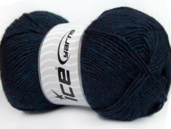 Lot of 4 x 100gr Skeins Ice Yarns MIRAGE (50% Wool) Yarn Navy Melange