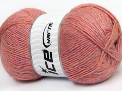 Lot of 4 x 100gr Skeins Ice Yarns MIRAGE (50% Wool) Yarn Pink Melange