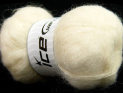 Lot of 4 x 100gr Skeins Ice Yarns BERMUDA MOHAIR (70% Mohair) Yarn Cream