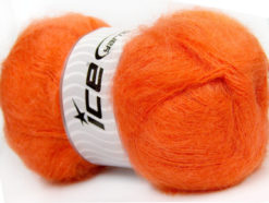 Lot of 4 x 100gr Skeins Ice Yarns BERMUDA MOHAIR (70% Mohair) Yarn Orange
