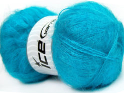 Lot of 4 x 100gr Skeins Ice Yarns BERMUDA MOHAIR (70% Mohair) Yarn Turquoise