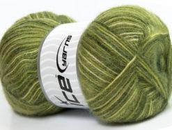 Lot of 4 x 100gr Skeins Ice Yarns ANGORA SUPREME COLOR (70% Angora) Yarn Green Shades