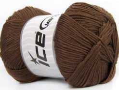 Lot of 4 x 100gr Skeins Ice Yarns BABY ANTIBACTERIAL (100% Antibacterial Dralon) Yarn Brown