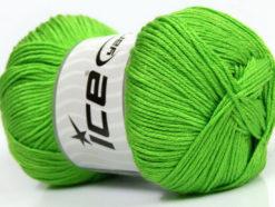Lot of 4 x 100gr Skeins Ice Yarns BABY ANTIBACTERIAL (100% Antibacterial Dralon) Yarn Light Green