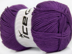 Lot of 4 x 100gr Skeins Ice Yarns BABY ANTIBACTERIAL (100% Antibacterial Dralon) Yarn Purple