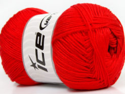 Lot of 4 x 100gr Skeins Ice Yarns BABY ANTIBACTERIAL (100% Antibacterial Dralon) Yarn Red