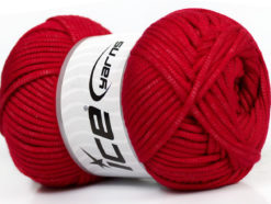 Lot of 4 x 100gr Skeins Ice Yarns TUBE VISCOSE (73% Viscose) Yarn Red