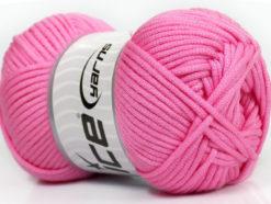 Lot of 4 x 100gr Skeins Ice Yarns TUBE VISCOSE (73% Viscose) Yarn Pink