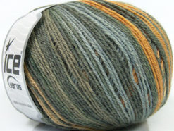 Lot of 4 x 100gr Skeins Ice Yarns ALPACA FINE MAGIC (25% Alpaca 35% Wool) Yarn Camel Grey Shades Yellow