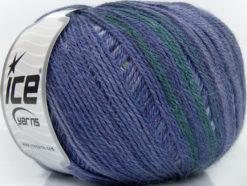 Lot of 4 x 100gr Skeins Ice Yarns ALPACA FINE MAGIC (25% Alpaca 35% Wool) Yarn Purple Shades Dark Green