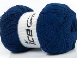 Lot of 4 x 100gr Skeins Ice Yarns LORENA SUPERFINE (55% Cotton) Yarn Navy