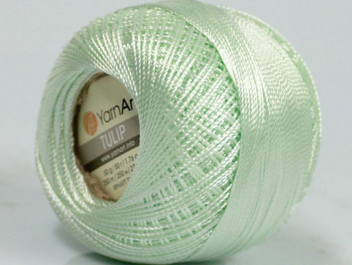 Lot of 6 Skeins YarnArt TULIP (100% MicroFiber) Hand Knitting Yarn Mint Green