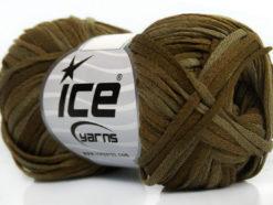 Lot of 8 Skeins Ice Yarns VIOLINO Hand Knitting Yarn Dark Green Khaki