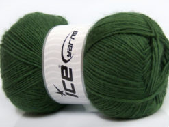 Lot of 4 x 100gr Skeins Ice Yarns MIRAGE (50% Wool) Hand Knitting Yarn Green
