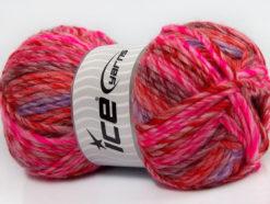 Lot of 4 x 100gr Skeins Ice Yarns MYSTIQUE (25% Wool) Yarn Pink Red Burgundy Lilac