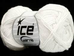 Lot of 8 Skeins Ice Yarns COTTON BAMBOO (50% Bamboo 50% Cotton) Yarn White