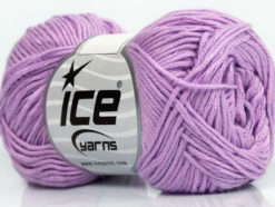 Lot of 8 Skeins Ice Yarns COTTON BAMBOO (50% Bamboo 50% Cotton) Yarn Lilac