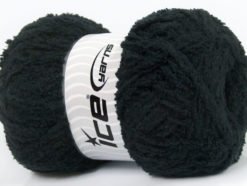 Lot of 4 x 100gr Skeins Ice Yarns PUFFY (100% MicroFiber) Yarn Black