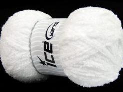 Lot of 4 x 100gr Skeins Ice Yarns PUFFY (100% MicroFiber) Yarn White