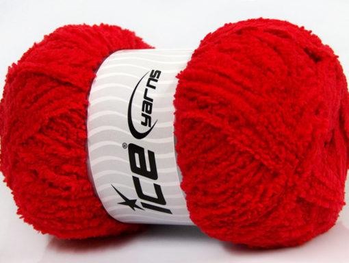 Lot of 4 x 100gr Skeins Ice Yarns PUFFY (100% MicroFiber) Yarn Red