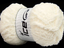 Lot of 4 x 100gr Skeins Ice Yarns PUFFY (100% MicroFiber) Yarn Cream
